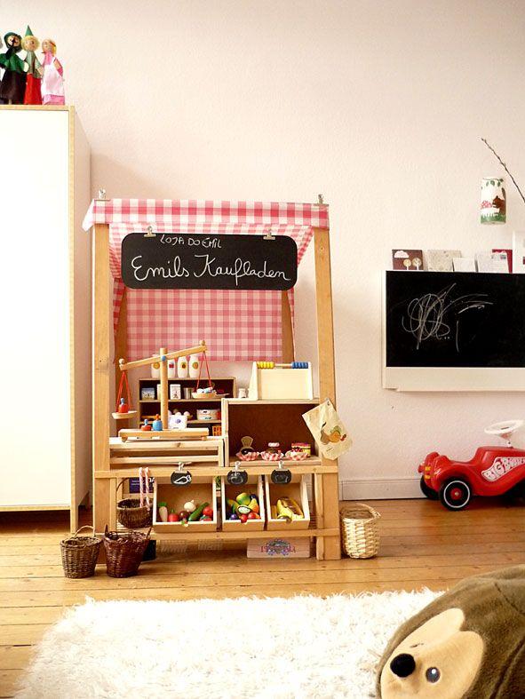 kaufladen meins pinterest kaufladen spielk che und kinderk che. Black Bedroom Furniture Sets. Home Design Ideas