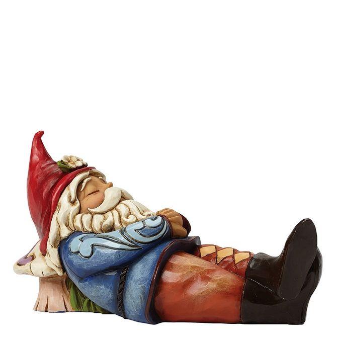 Sleeping Gnome Figurine - Jim Shore Garden Gnome Collection - Gnome More Worries 4045279 #FineGiftsNottingham #SleepingGnomeFigurinesJimShoreHeartwoodCreek #GnomeMoreWorries