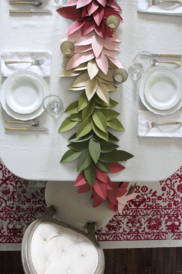 Photo of Colorful Paper Leaf Garland for Fall