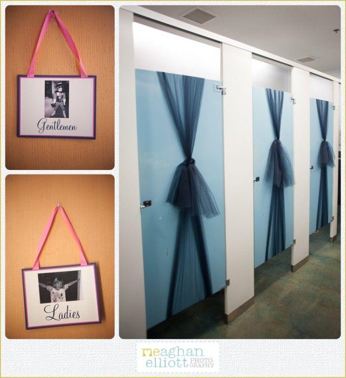 Cute Wedding Ideas For Reception: Cute Wedding Bathroom Sign And Decoration Ideas