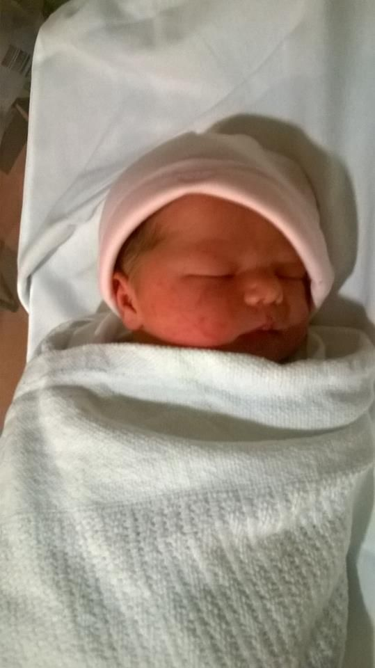 """Mum writes """"Ellen-Harriet was born 12th January 2016 at 11:03am and weighed 7lb 15oz. I got my antibiotics in plenty of time."""""""