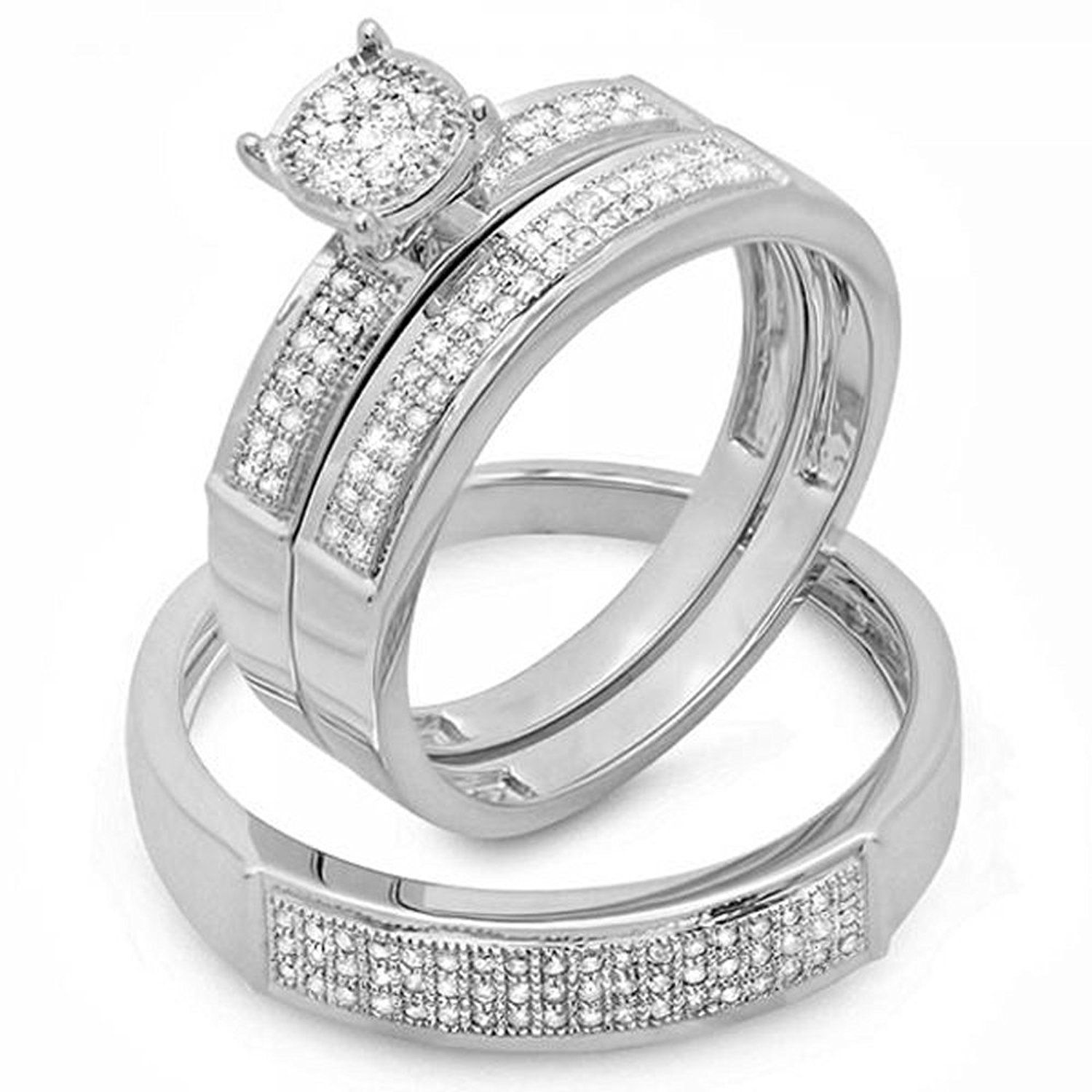 carat ctw round white diamond men and womenus micro pave