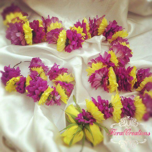 Mehndi Flower Jewelry Houston : Mehndi floral jewellery and florists