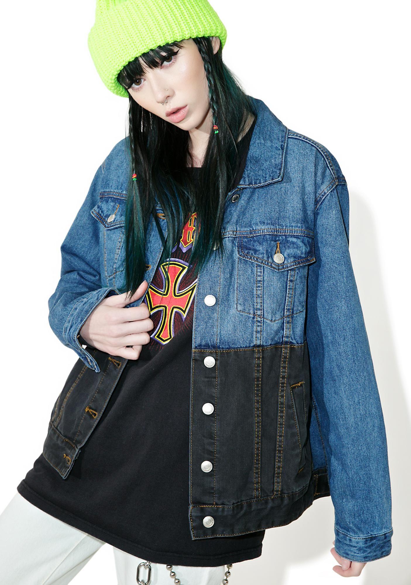 Black N Blue Denim Jacket Denim Jacket Blue Denim Jacket Jackets [ 2000 x 1405 Pixel ]