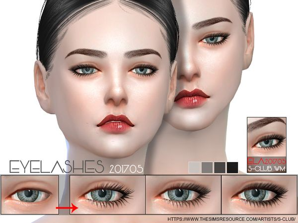 5ce14b2ccad S-Club WM ts4 eyelashes 201705 | Sims 4 Character CC | Sims 4, The ...