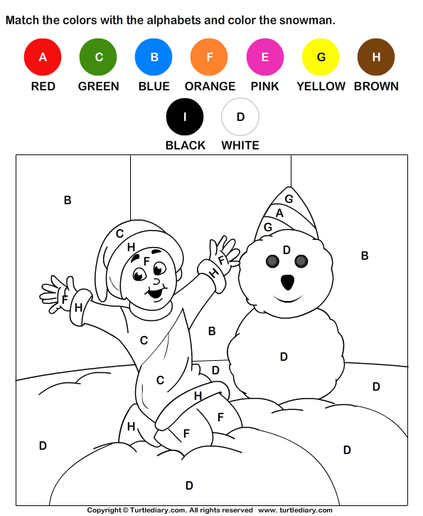 Color by Letter Worksheet 5 | desen-litere,cifre | Pinterest | Invierno