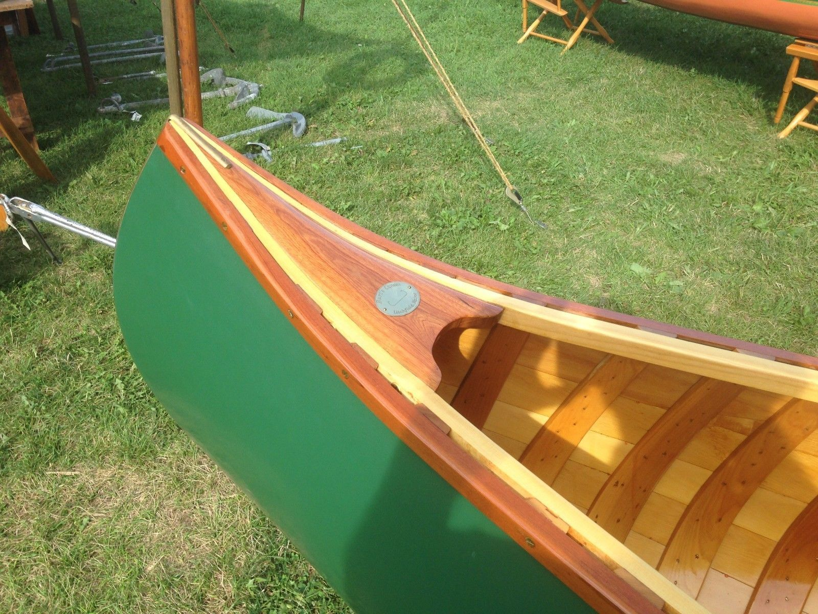 13' Solo Canoe Burt Libby Camps Old Town Wood Canvas NEW! in