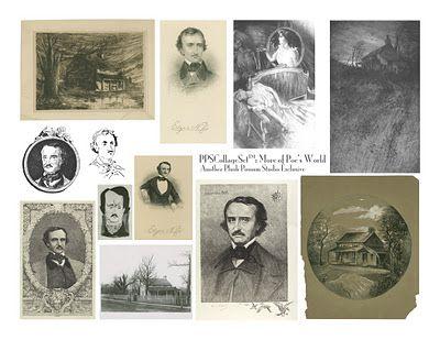 Edgar Allen Poe collage