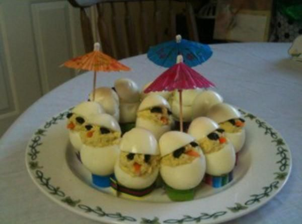 Chickie Deviled Eggs - Chickies For Easter Recipe