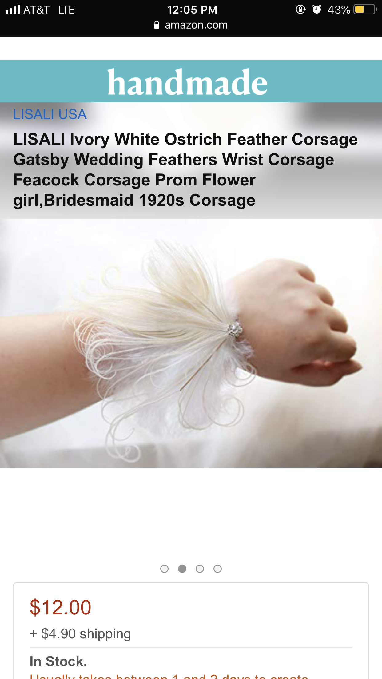 Great Gatsby Wedding Wrist Corsage Mother Bridesmaid 1920s Corsage LISALI Black Feather Corsage Crystal Vintage Corsage