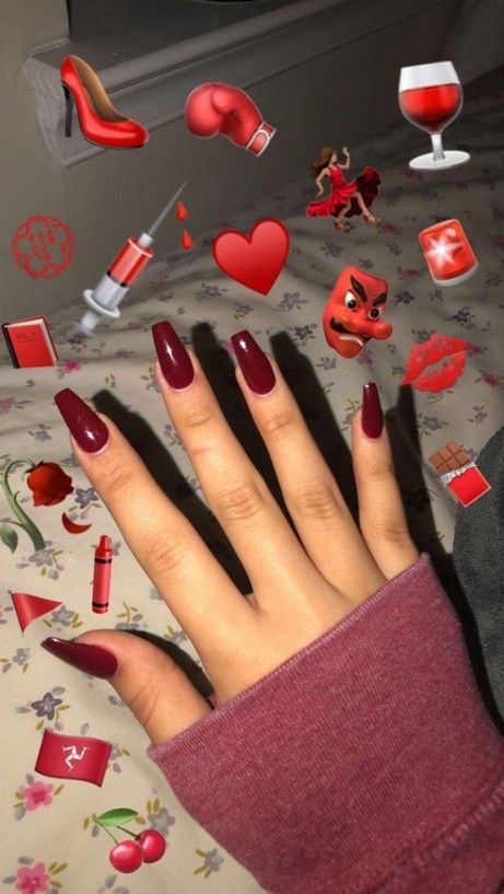 70 Best Chosen Acrylic Coffin Nails Inspirational Design For Prom And Party Page 10 Of 76 Maroon Nails Red Acrylic Nails Maroon Acrylic Nails