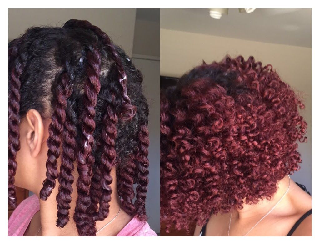 Two Strand Twist Out On Short Medium Length Natural Hair With