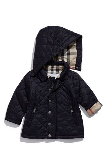 burberry girls quilted jacket