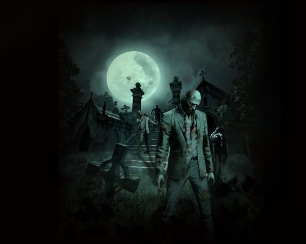 Graveyard Zombie Tattoo Idea Zombie Wallpaper Zombie Background Halloween Wallpaper