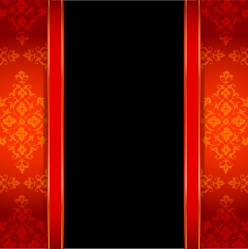 ornate red with black background vectors 03 t�o czarne z