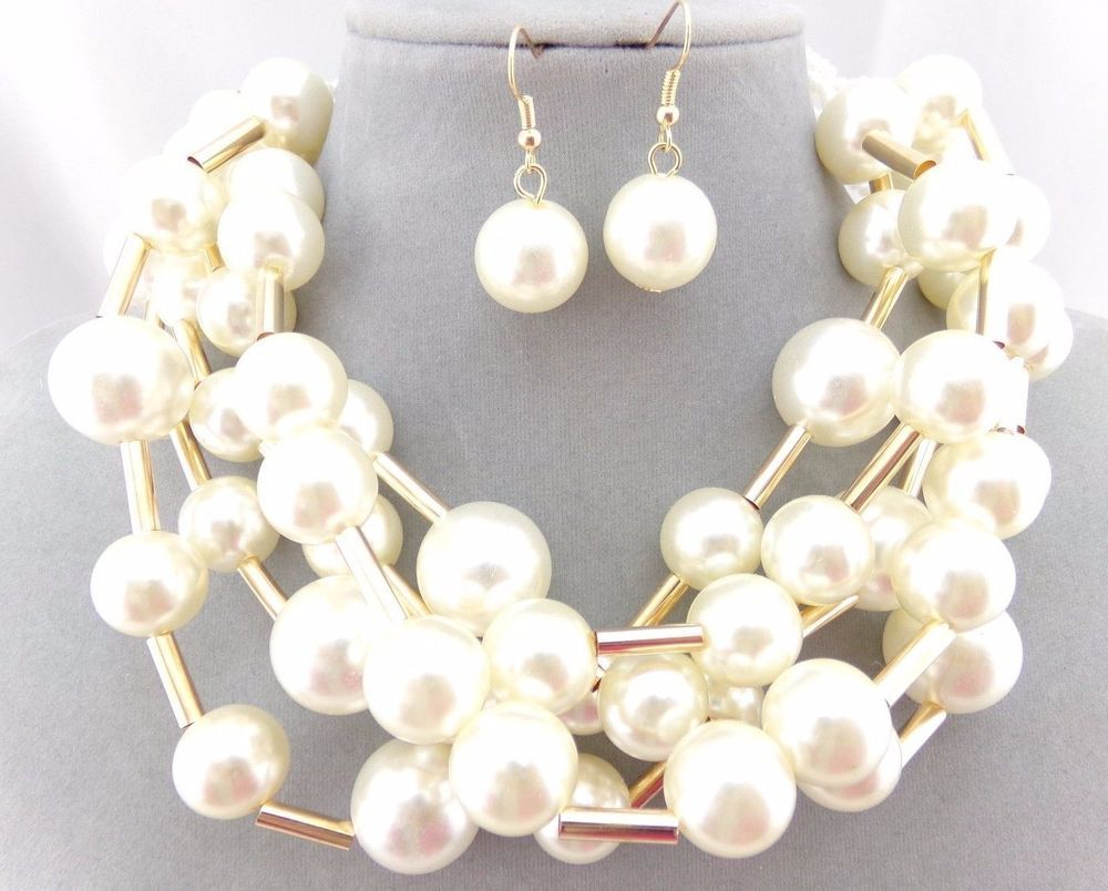 real cream pearls tradesy colored i necklace