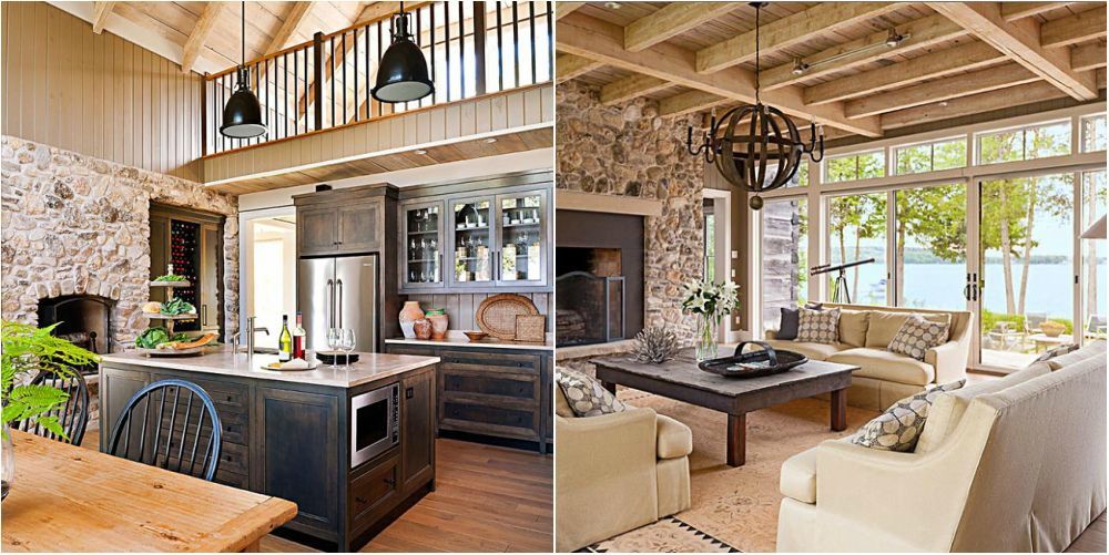 Beautiful English Country House Home Interior Design Kitchen And