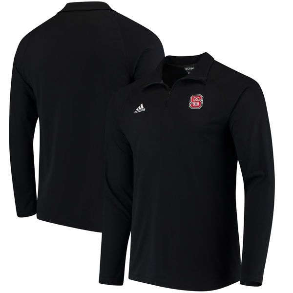 Men s adidas Black NC State Wolfpack Collegiate Ultimate Quarter-Zip  Pullover climalite Jacket 64a9b06c1