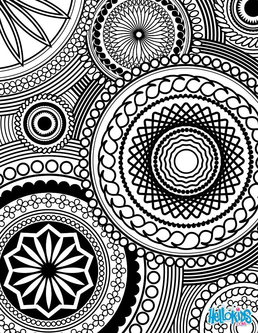 intricate geometric coloring pages - photo#15