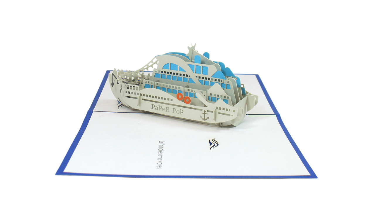 Party Boat Pop Up Card Paper Pop Boat Party Cards