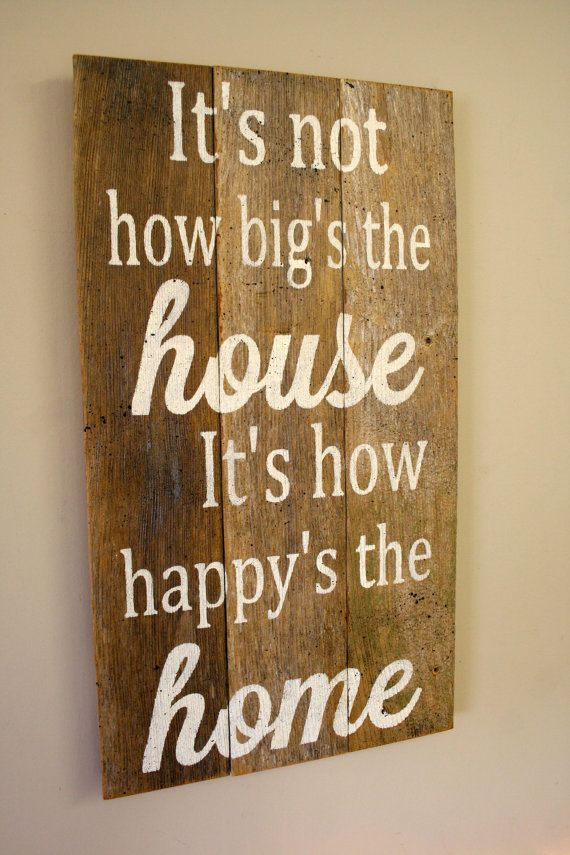 Pallet Sign Reclaimed Wood Sign Rustic Home Decor Shabby Chic Home