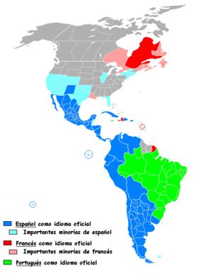 América latina - América Latina - Wikipedia, la enciclopedia libre Spanish Speaking Countries in blue - The Americas