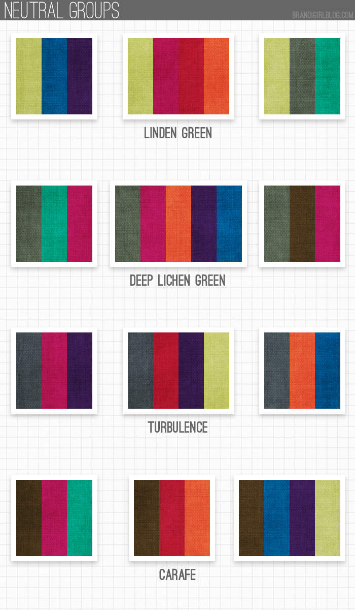 What Colors Are Neutral pantone's 2013 fall colors | girl blog, pantone and group