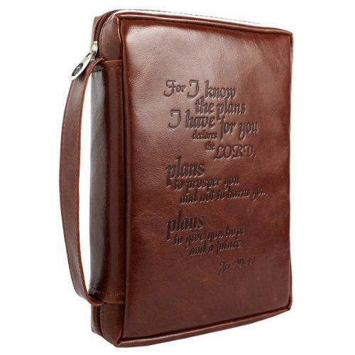 Vintage Leather Look Jeremiah Verse Bible Book Cover Large: Vintage Leather-Look Jeremiah 29:11 Verse Bible / Book