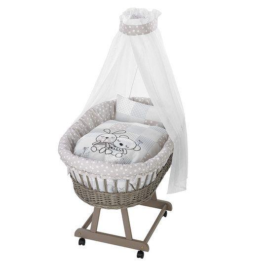 h bscher weidenkorb mit matratze himmel und bettw sche. Black Bedroom Furniture Sets. Home Design Ideas