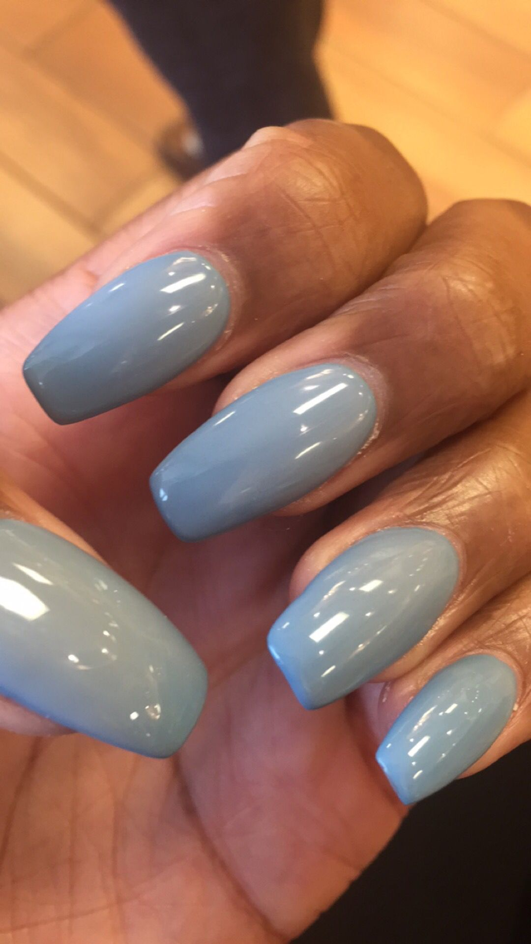 Ombré nails color is glass door by kiara gel | Nailed it | Pinterest