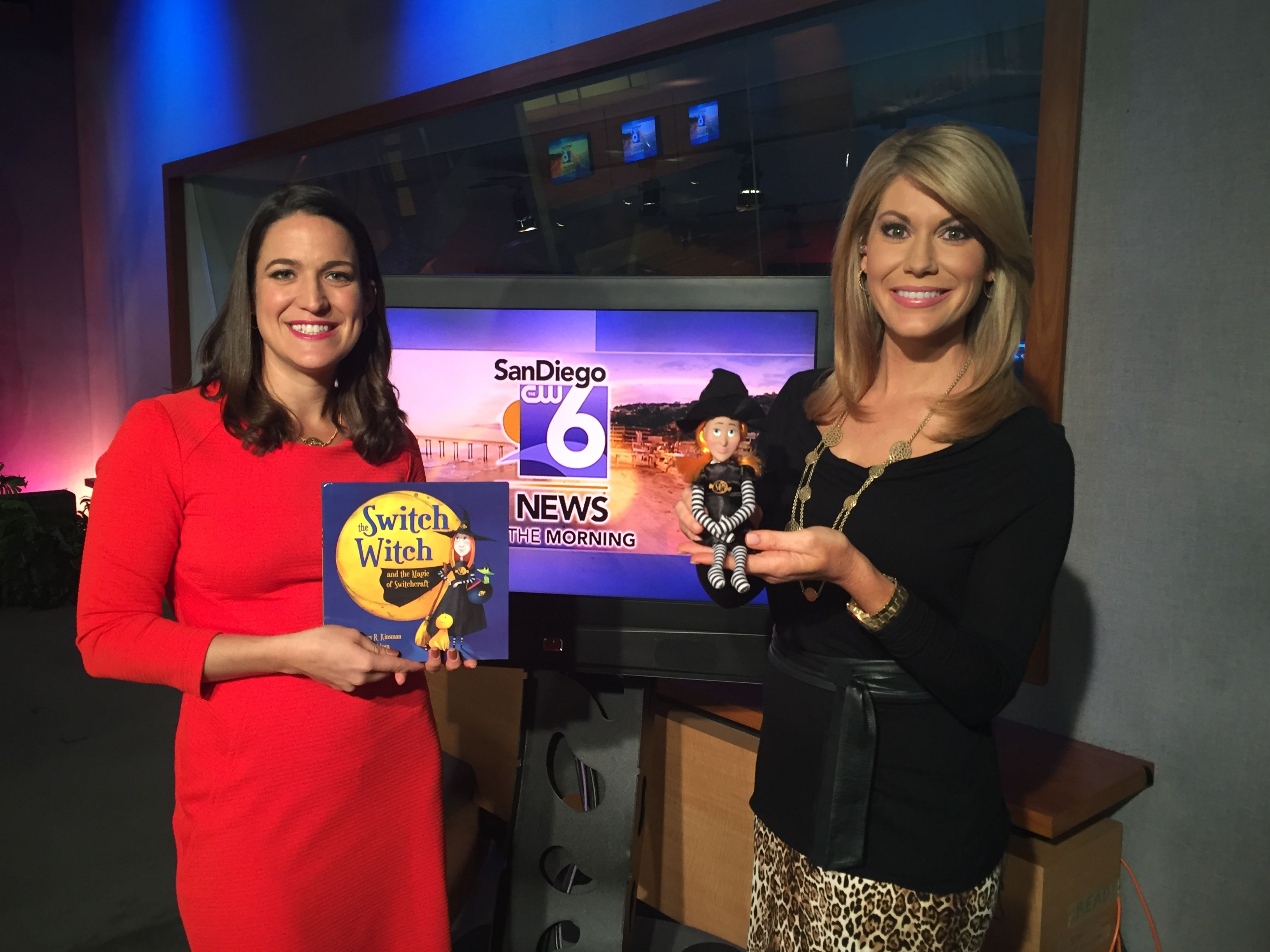 The Switch Witch is on the morning news in San Diego! Thanks to Heather Myers and everyone at Channel 6!