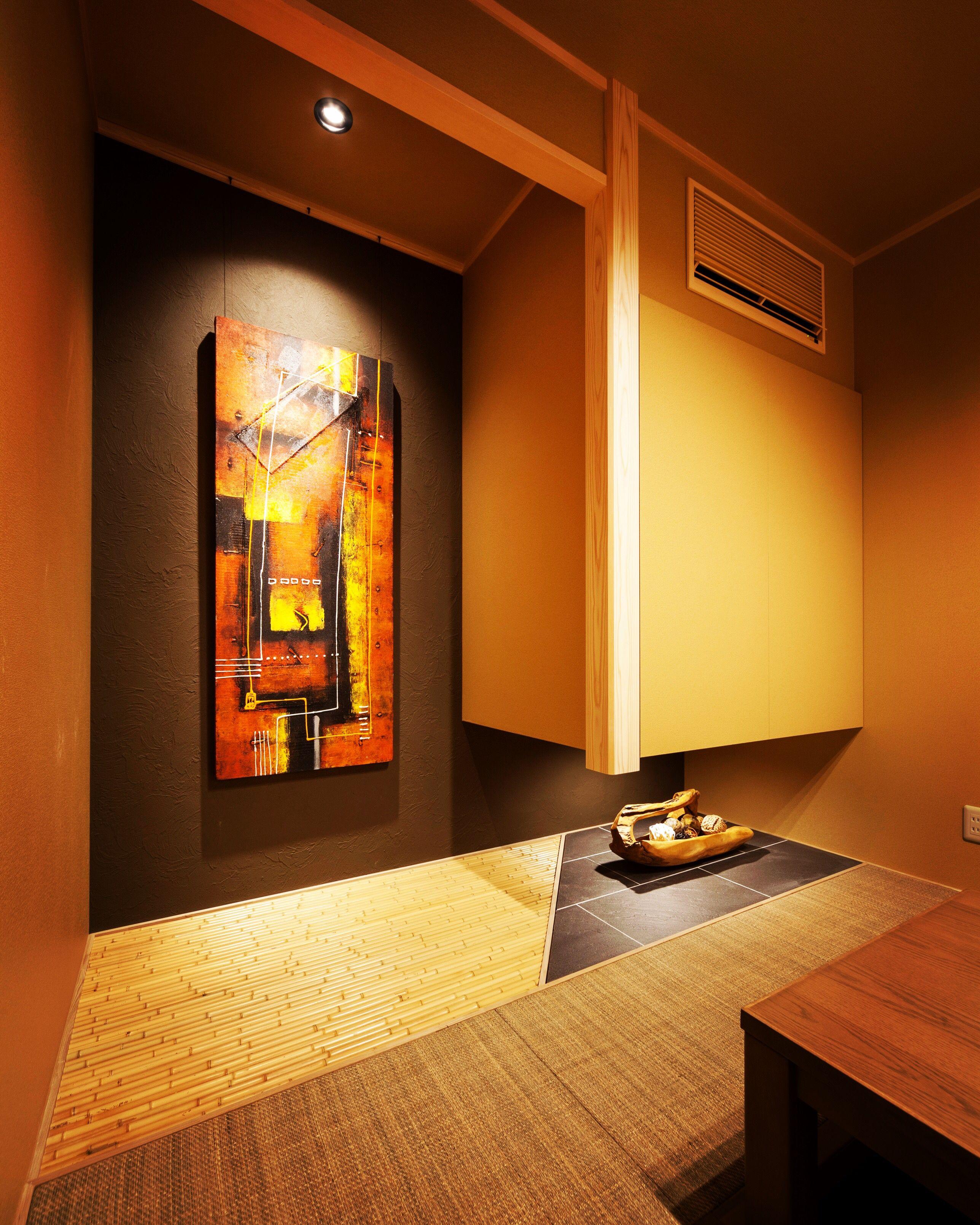 高級感のある和室 和室 キッチン 黒澤 工務店 新築 注文住宅