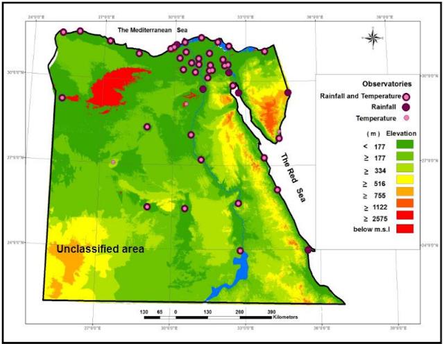 الجغرافيا دراسات و أبحاث جغرافية An Evaluation Of Spatial Interpolation Methods For Spatial Rainfall Egypt