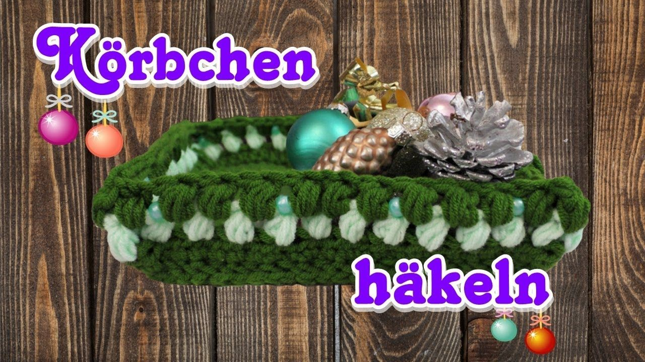 Körbchen Eckig Mit Perlen Korb Eckig Häkeln Korb Weihnachten