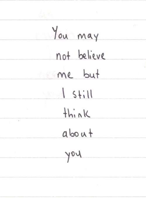 why do i still think about you