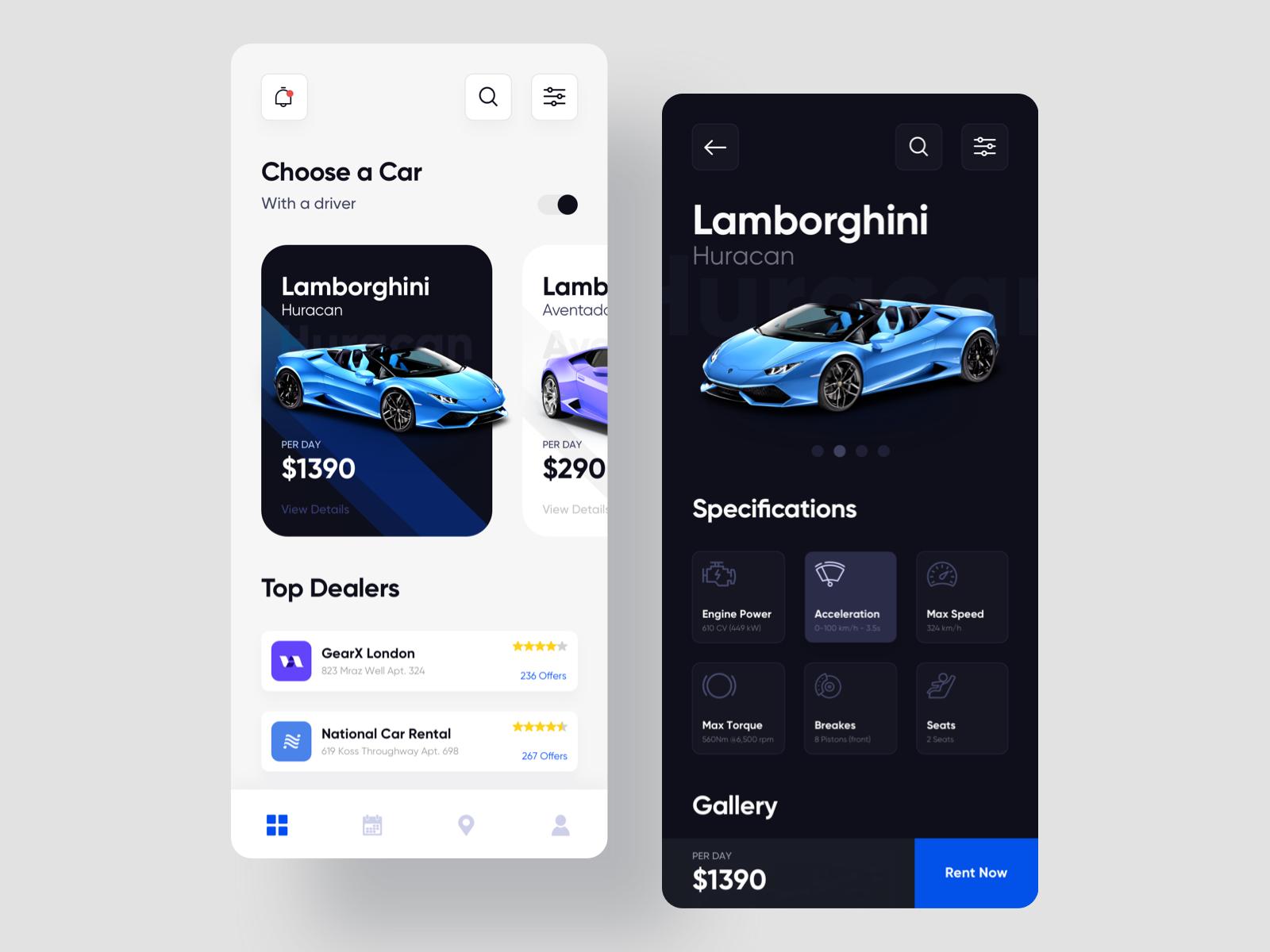 Car Rental App Design Car Rental App App Design Car Rental
