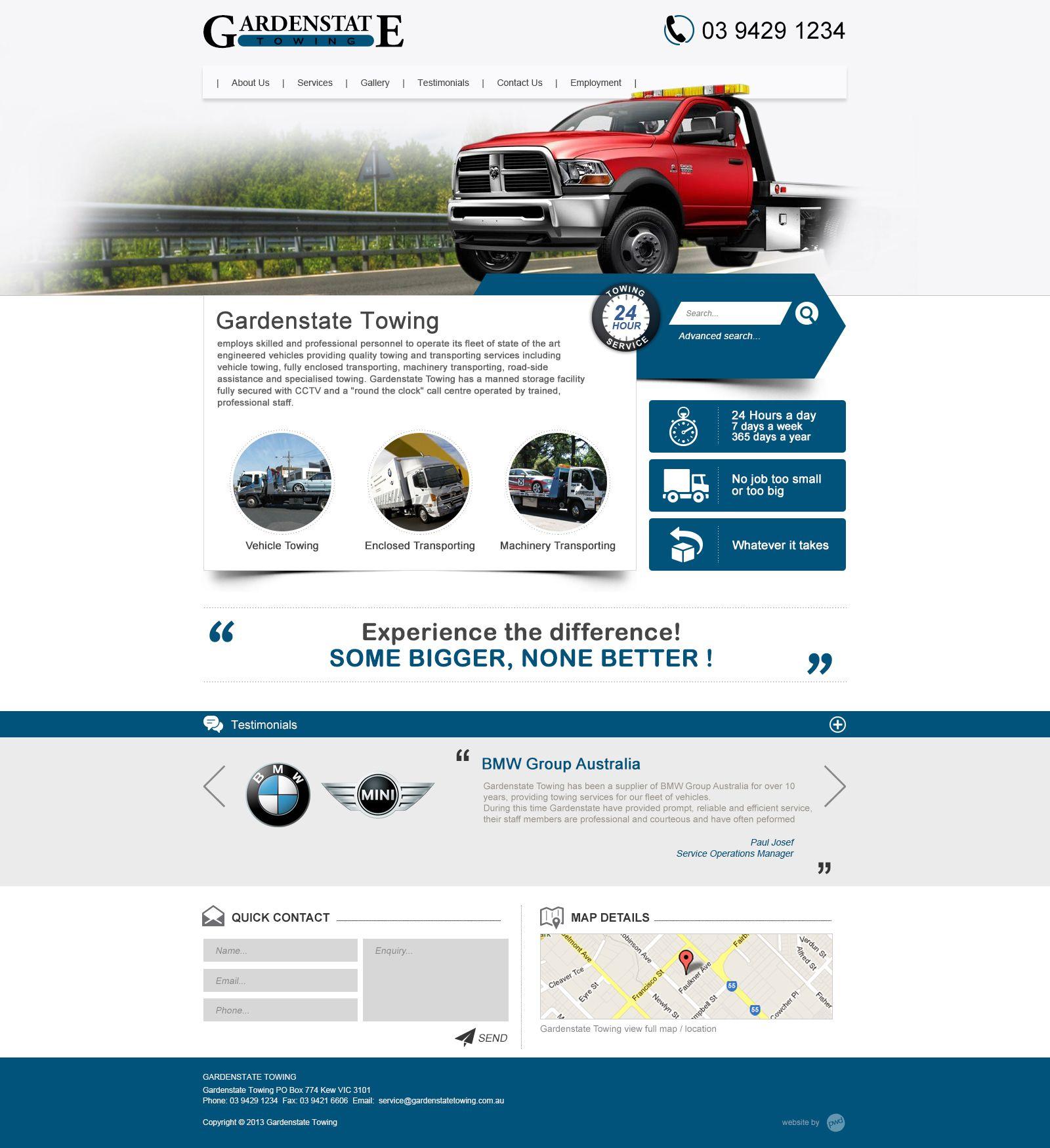 Garden Web Design Gallery Garden State Towing #website #weblayout #webdesign #inspiration .