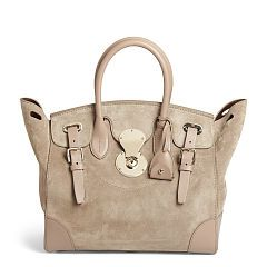 Medium Suede Soft Ricky Bag Ralph Lauren Top Handles Satchels Ralphlauren
