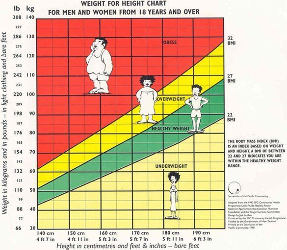 Bmi Categories Are Considered To Be An Adequate Tool For - healthy weight chart for women