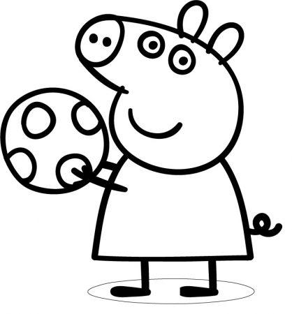 Coloriage peppa 16 coloriage peppa pig coloriage dessins animes activit s du mercredi - Dessin a imprimer peppa pig ...