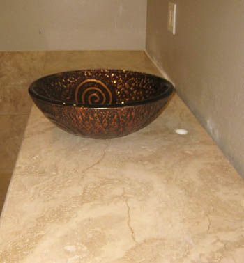 Travertine Bathroom Vanity Austin Tx Natural Stone Countertop