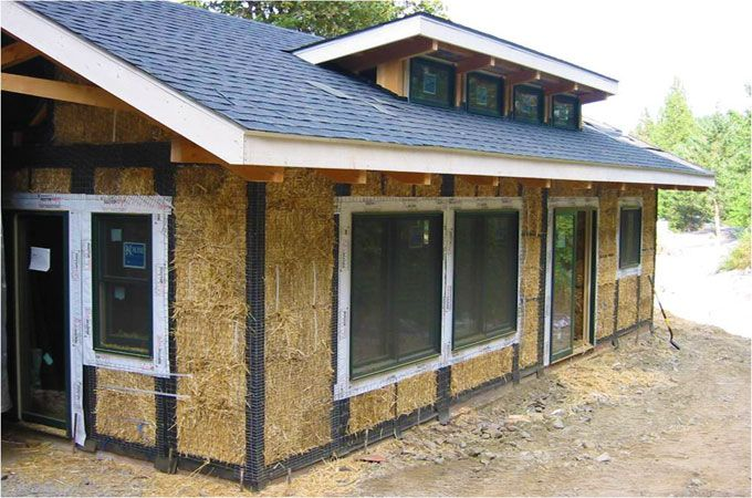 straw bale house   another crazy idea   Pinterest   Straw Bales    straw bale house   another crazy idea   Pinterest   Straw Bales  Straws and Barn Style Homes