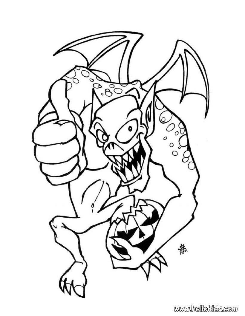 Coloring. Scary Halloween Coloring Pages Scary Halloween Pumpkin ...