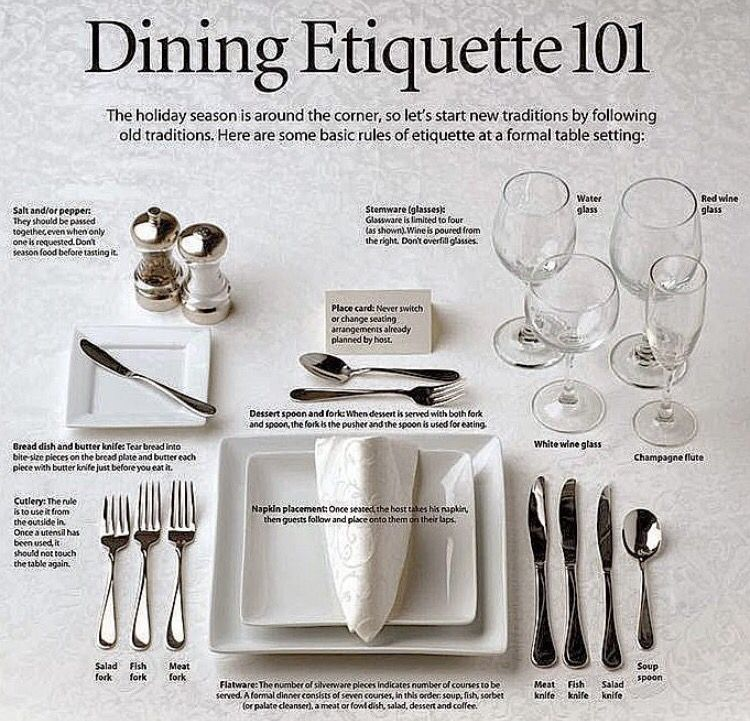 Always Be Prepared For Your Dining Etiquette Knife Fork Spoon Dining Etiquette Table Etiquette Etiquette And Manners