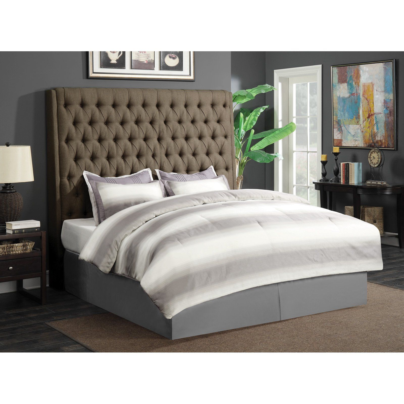 Best Coaster Furniture Camille Upholstered Headboard Brown 640 x 480
