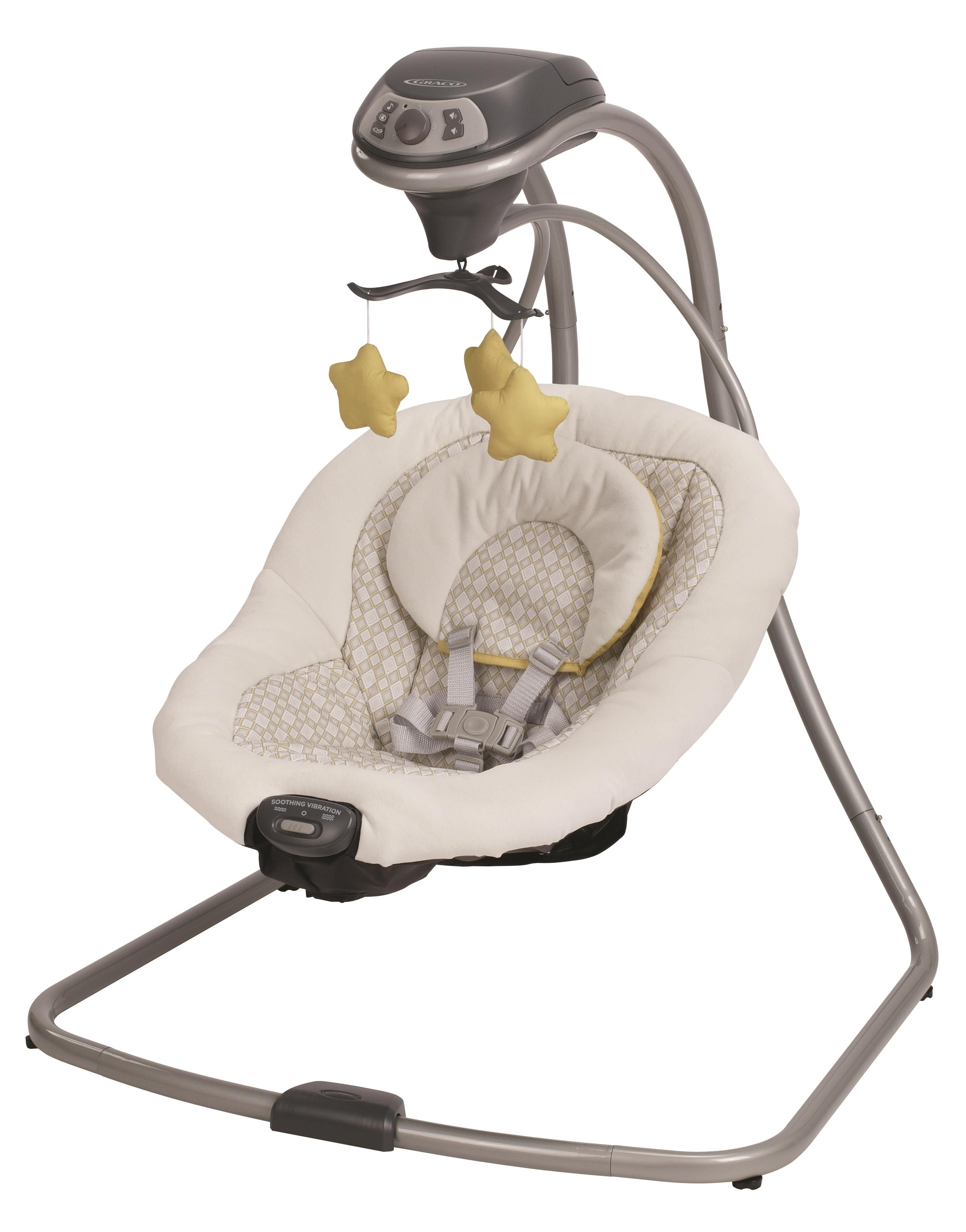 ebd05f96db09 Graco® Simple Sway™ Swing in yellow and grey Henson fashion. Small ...
