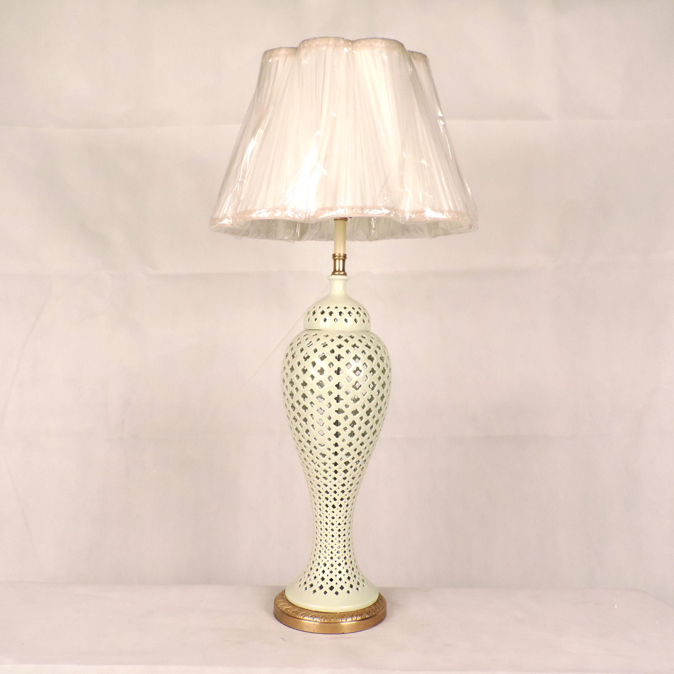 White Lattice Table Lamp Lamps Pinterest