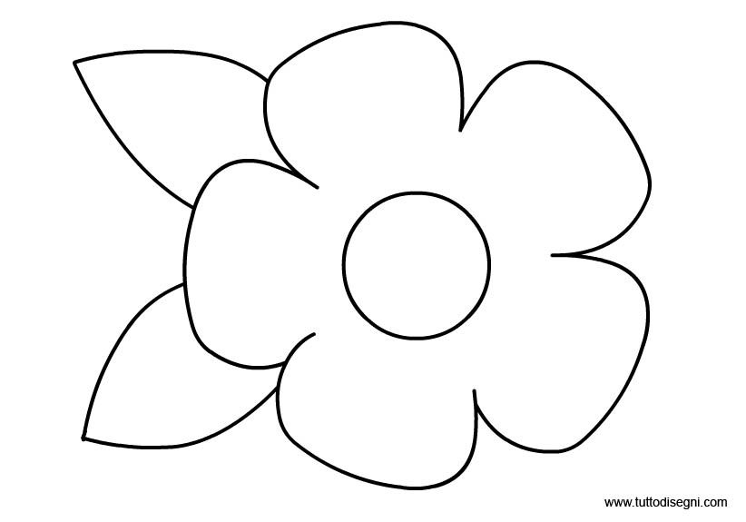stampa disegni da colorare fiori