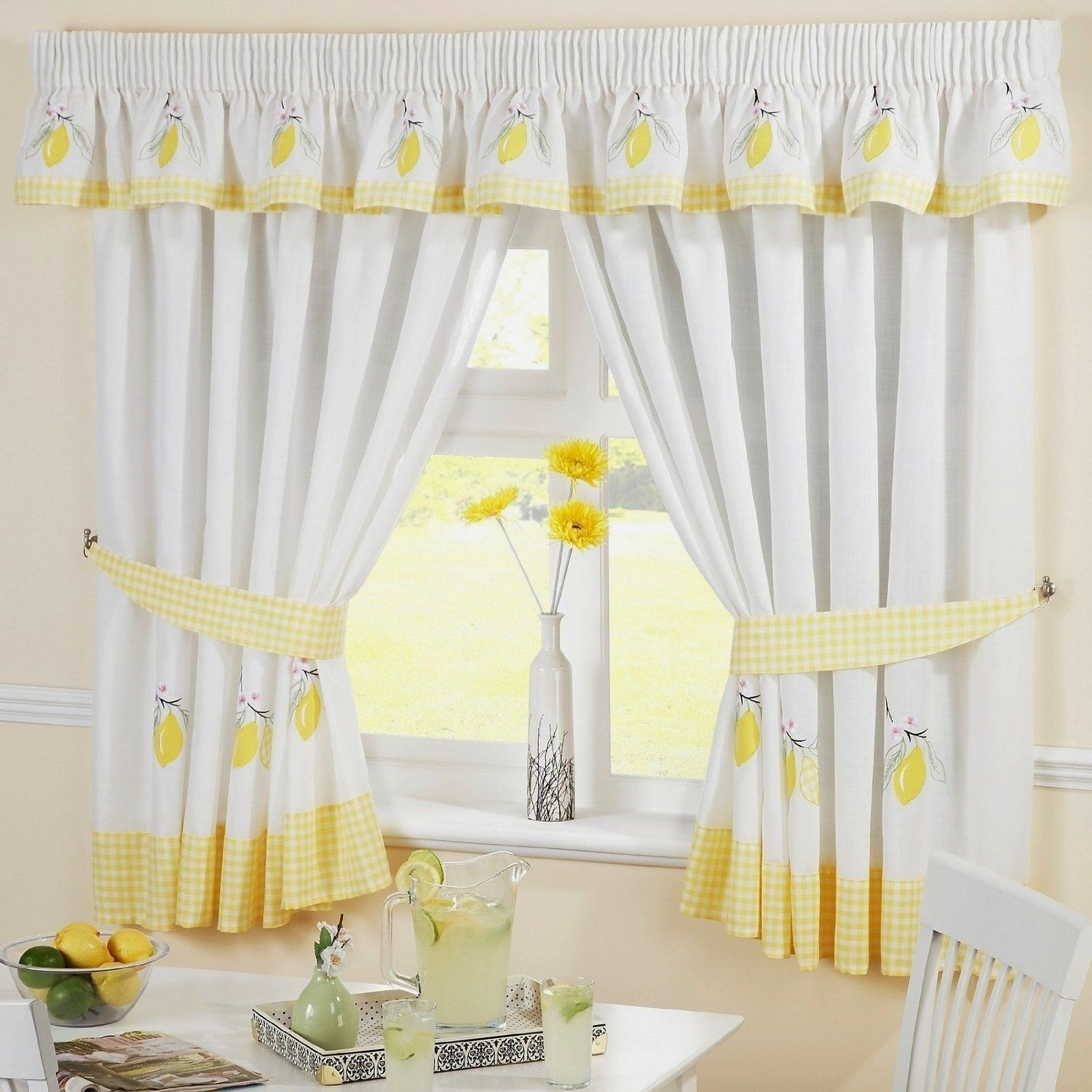 Pin By Cometbubba On Curtains Pinterest - Blue and yellow kitchen curtains