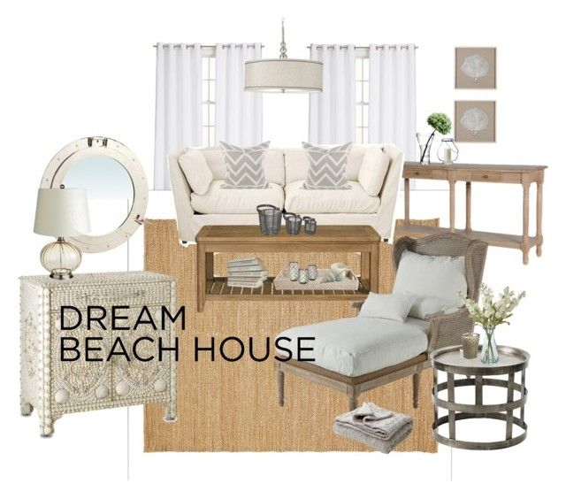 """""""Summer Reruns Home Scavenger Hunt: Beach Mansion Edition"""" by misschristabel ❤ liked on Polyvore featuring interior, interiors, interior design, home, home decor, interior decorating, Crate and Barrel, Pottery Barn, OKA and Multiyork"""